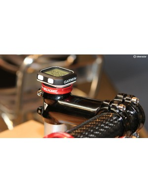 Garmin's new micro Edge 25 sits atop the Gravity Cap, cute as a button