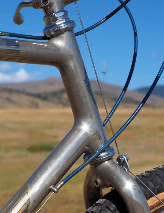 The nickel plating is holding up remarkably well considering that this bike is over 30 years old