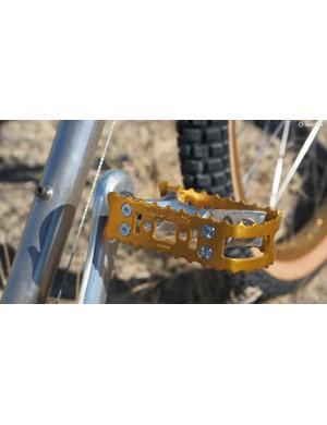 Suntour BMX pedals! Note the Suntour-branded bolt heads