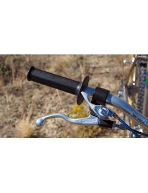 The Magura brake levers are massive aluminum bits
