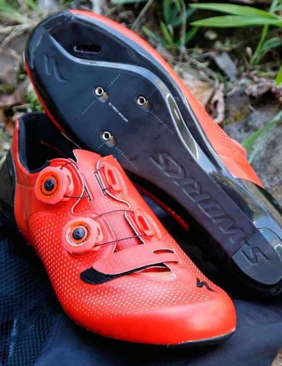 New for 2016, the Specialized S-Works 6 road shoe is said to be the brand's best performing shoe yet