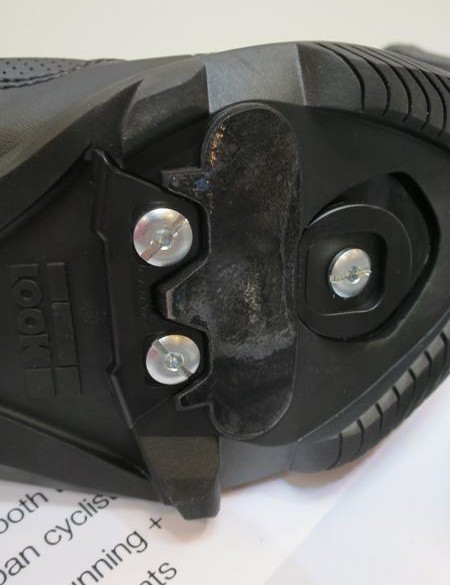 But underneath is a two-piece Keo compatible cleat mated to a hybrid road/ training shoe sole