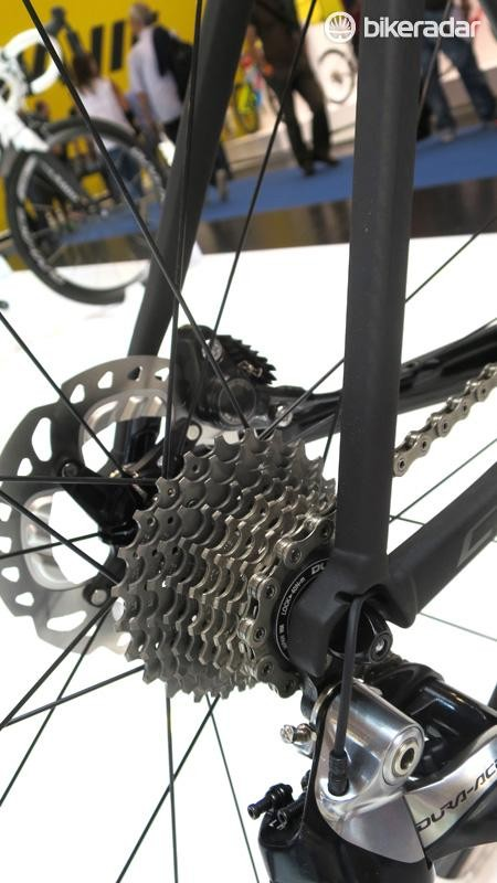 The C60's details are anything but traditional with internal hydraulic hose runs and provision for Di2…