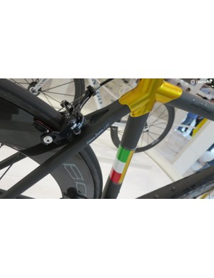 The Tricolore theme runs throughout the bike