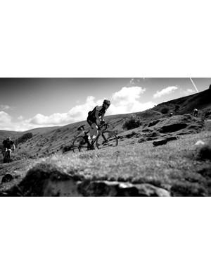 Moody climbing in sunlit Wales