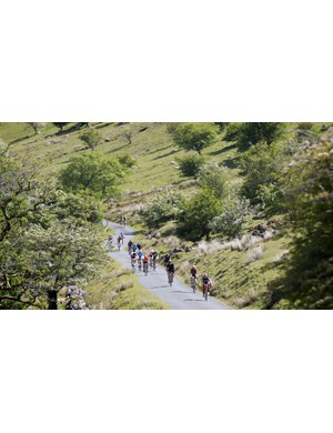 Considering this isn't taken from a helicopter, those cyclists have a long way to climb