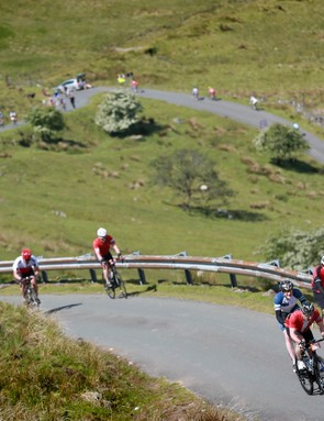 Switchbacks and roads full of cyclists – it's a Grand Tour feeling just over the bridge!