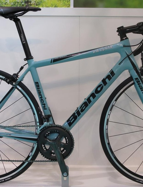 Bianchi's new Intrepida features an all-new carbon monocoque frame and all carbon fork
