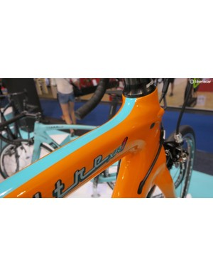 The flame orange and celeste option looks great on the Oltre XR1