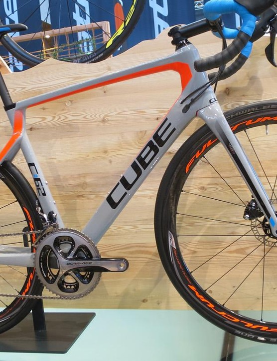 Cube's new Agree SLT Disc looks like the pick of the range with full Dura-Ace, carbon Fulcrum wheels and 805 brakes for £3299