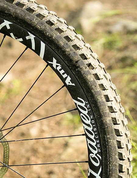 Own brand AMX Loaded carbon rims help add verve