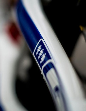 The Atherton Racing logo takes pride of place on the seatstays