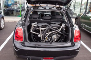 It looks pretty compact to us, although perhaps not as compact as the Brompton
