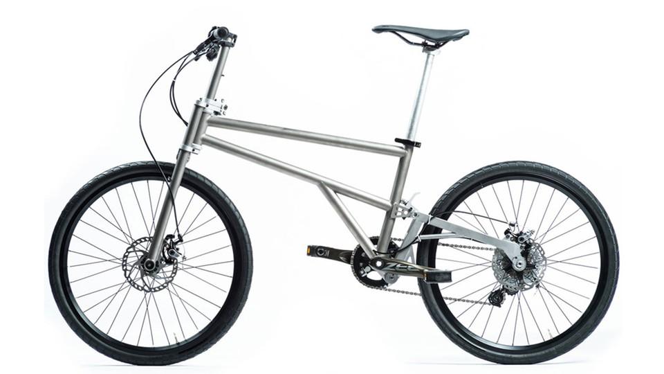 Helix Titanium Folding Bike Rolls Large Bikeradar