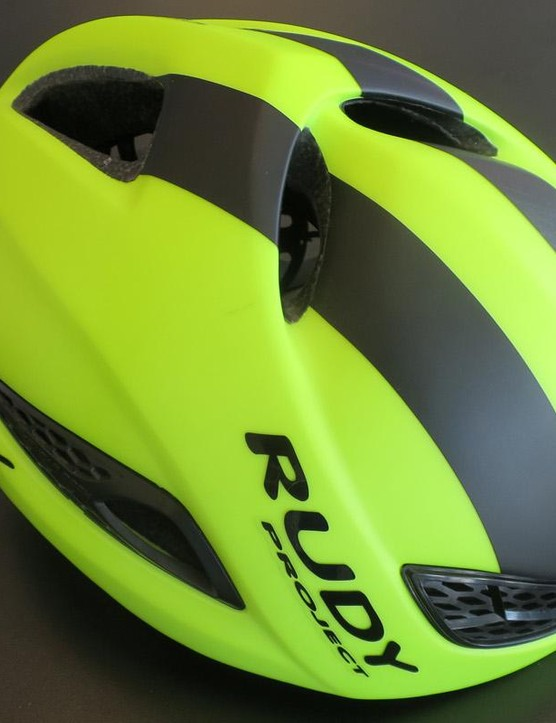 Rudy's new BOOST 01 helmet was designed in conjunction with John Cobb and Pininfarina's wind tunnel
