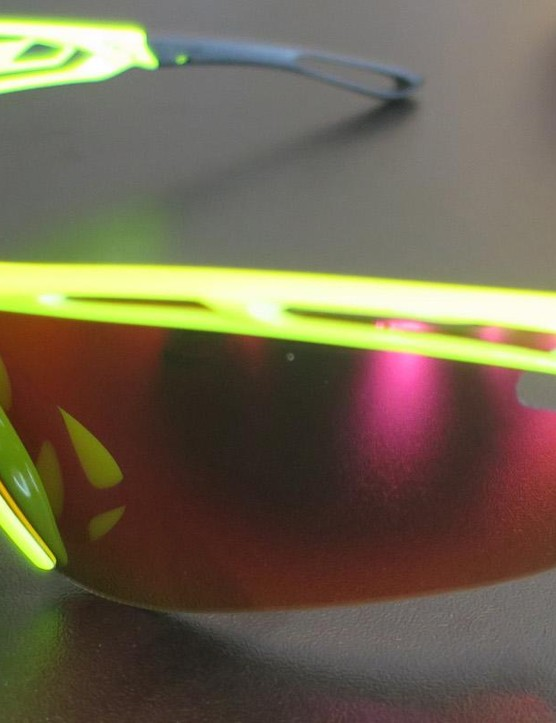 The new Tralyx glasses feature a frame with cut-out sections designed to allow air to channel through and aid cooling
