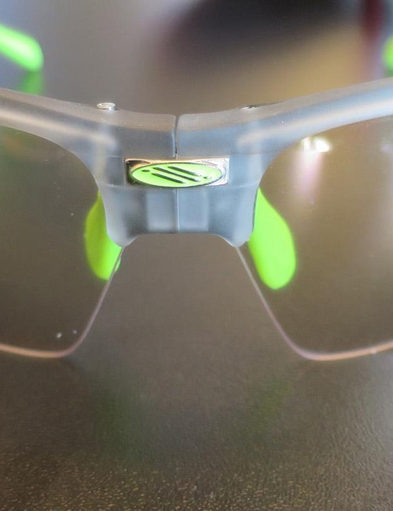 The new SynForm glasses feature suspended hinges for reduced vibration