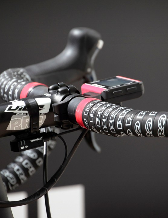 Giant-Alpecin features Shimano parts throughout the bikes, from the Di2 drivetrain to the PRO cockpit