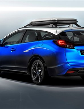 The production Civic Tourer holds a Guinness world record for fuel efficiency