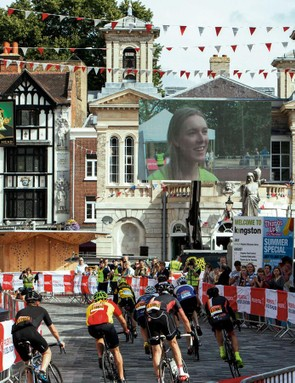 RideLondon participants passed through the historic town of Kingston twice on the course