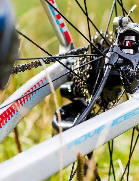 Chunky chainstays keep the rear of the TCX efficient; TRP's Spyres are among the best cable disc brakes around