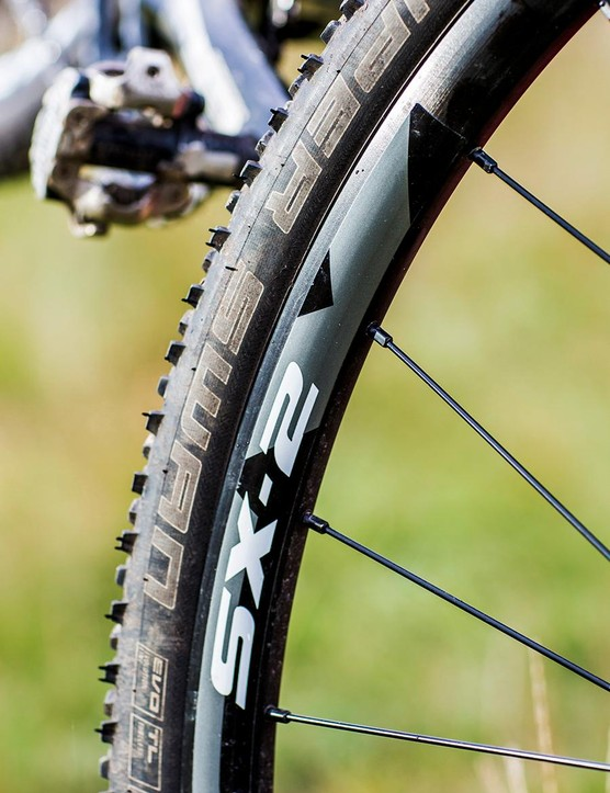 The wheels could do with shedding weight, but Schwalbe's Super Swan tyres are 200g lighter each than last year