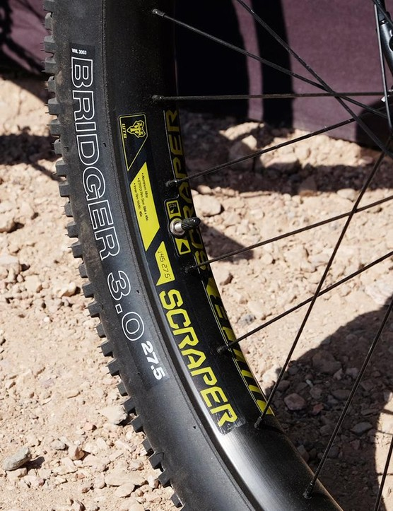 Cannondale's Beast of the East rolls on WTB's 45mm-wide Scraper rims and 27.5x3.0in treads