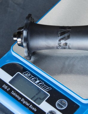 The front hub tips the scales at 72g