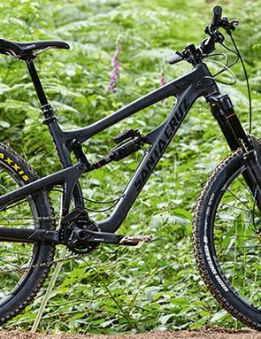 The Santa Cruz Nomad's murdered-out frame looks great, but kit is more basic than bling