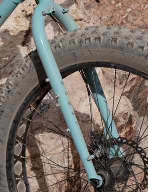 The Wednesday has a suspension corrected fork with plenty of braze-ons for bikepacking