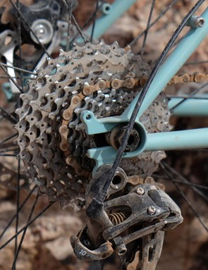 It can be run with a geared or singlespeed drivetrain