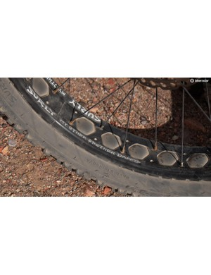 The Wednesday comes with Surly's new tubeless-compatible Other Brother Darryl rims