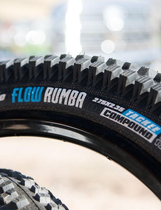 Vee Rubber's new Flow Rumba is a purpose-built downhill race rubber. Available in 26 and 27.5in widths