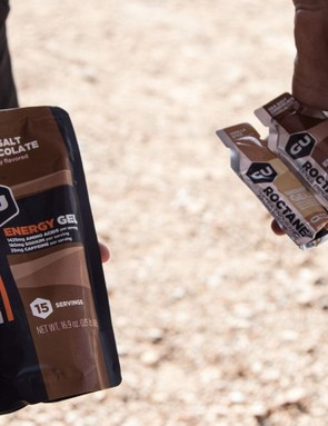 GU were sampling a few new products; most interesting is the new '15-serving' pack