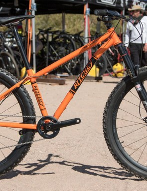 Ritchey is now offering a longer-travel trail hardtail called the TimberWolf. That's a 140mm fork on front and the complete bike pictured will be available