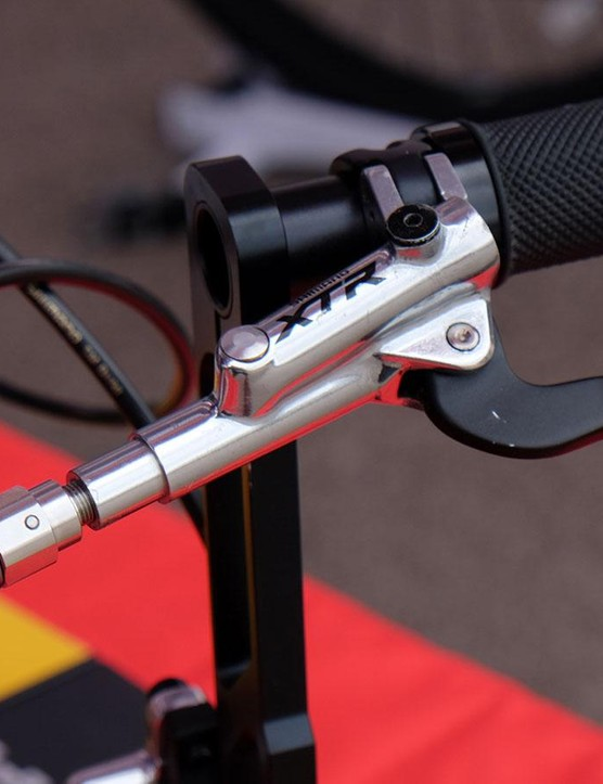 OutBreaker is a brake-pressure regulator intended to prevent riders from flipping over the handlebars when they grab too much front brake. The $150 OutBraker mounts to most hydraulic brake systems and steps down the amount of braking force from the lever to the caliper.   Is this really necessary since the majority of modern disc brakes have excellent modulation? We're not so sold. But if you're an OTB-prone rider you might want to look into it. Or maybe you could just lay off the front brake…