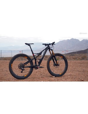 The chassis is the latest incarnation of Specialized's highly evolved Stumpjumper trail platform