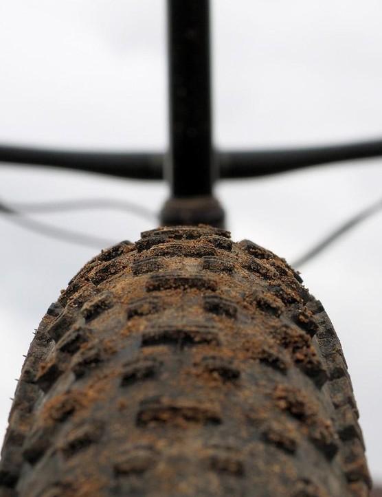 The Ground Control 6Fattie tires' low-profile tread