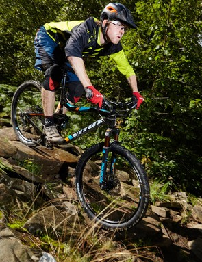 Going downhill is when the Vitus' suspension performance comes to the fore