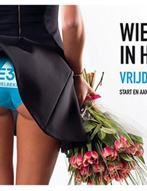 You have to wonder what went though the minds of the organisers of the E3 Harelbeke race when they decided on this image to market the event