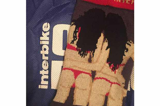 The socks that triggered #sockgate, given away free at the Interbike trade show in the US, and deemed by many people of both genders to be completely inappropriate