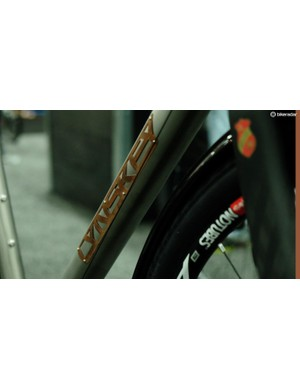 Lynskey had some great-looking riveted logos on its Ti frames