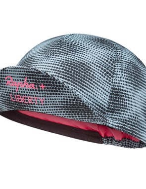The Rapha + Liberty limited edition cap provides protection from the elements