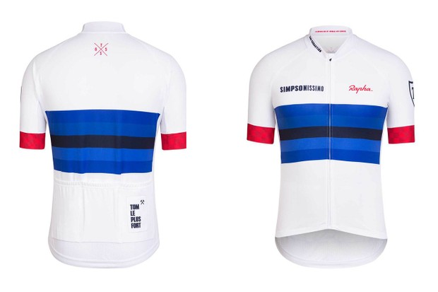 The Tom Simpson jersey commemorates the 50th anniversary of his world championship