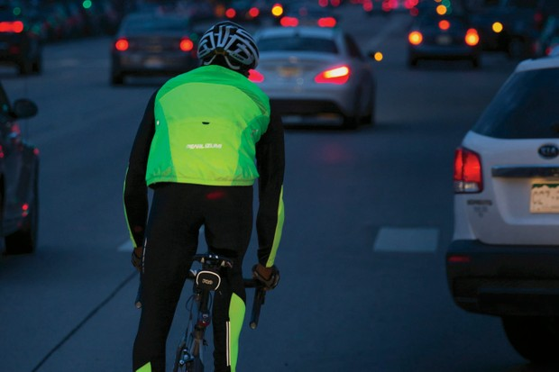 Pearl Izumi has branded its line of high-visibility clothing 'BioViz', for the fact that fluorescent colors reflect more light than white