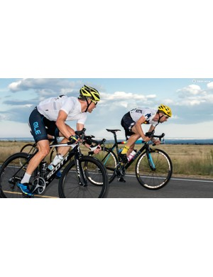 Bright helmets and reflectivity on wheels and bib-short seams? Why not?