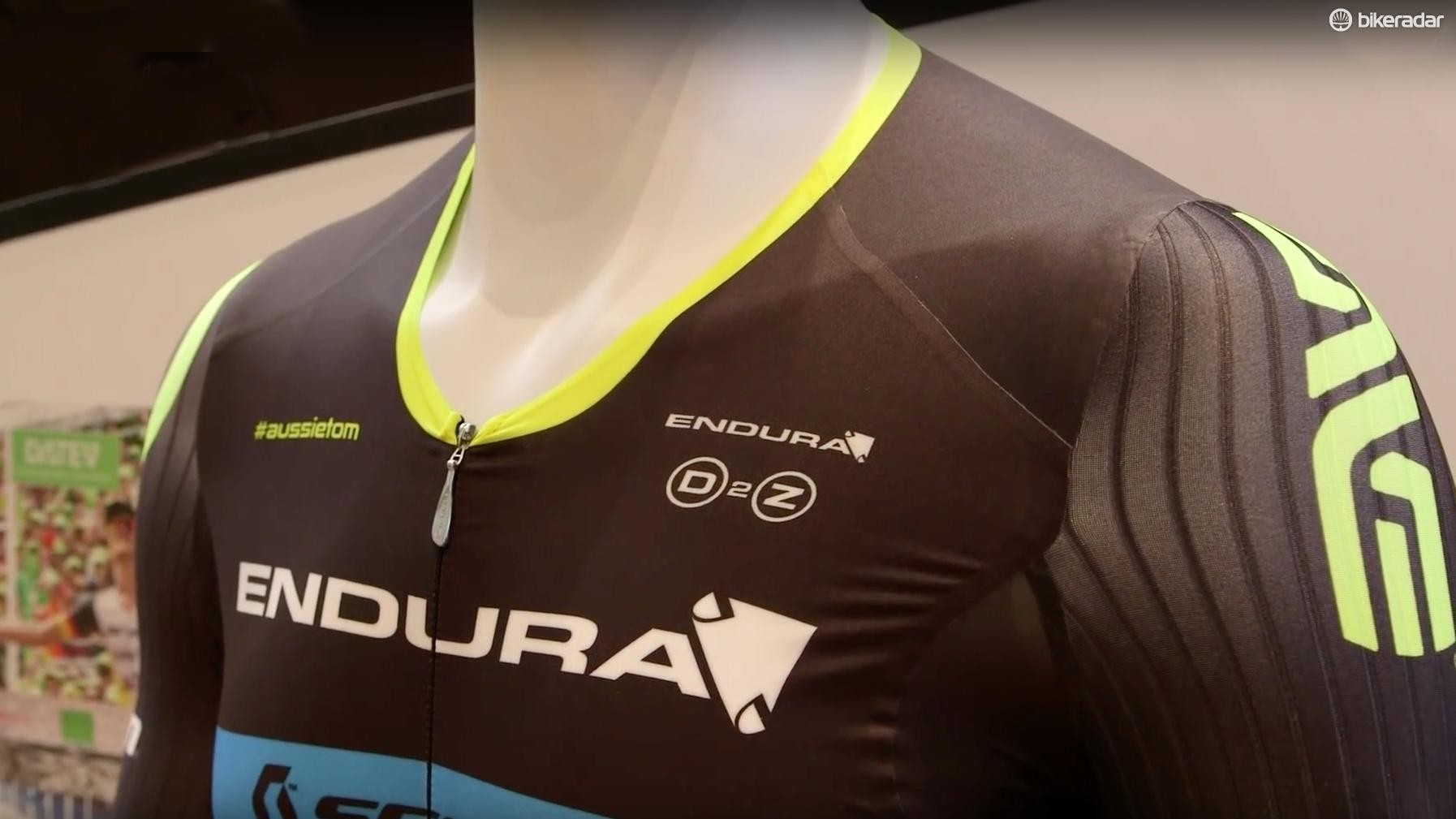 The new Endura tri skin suit
