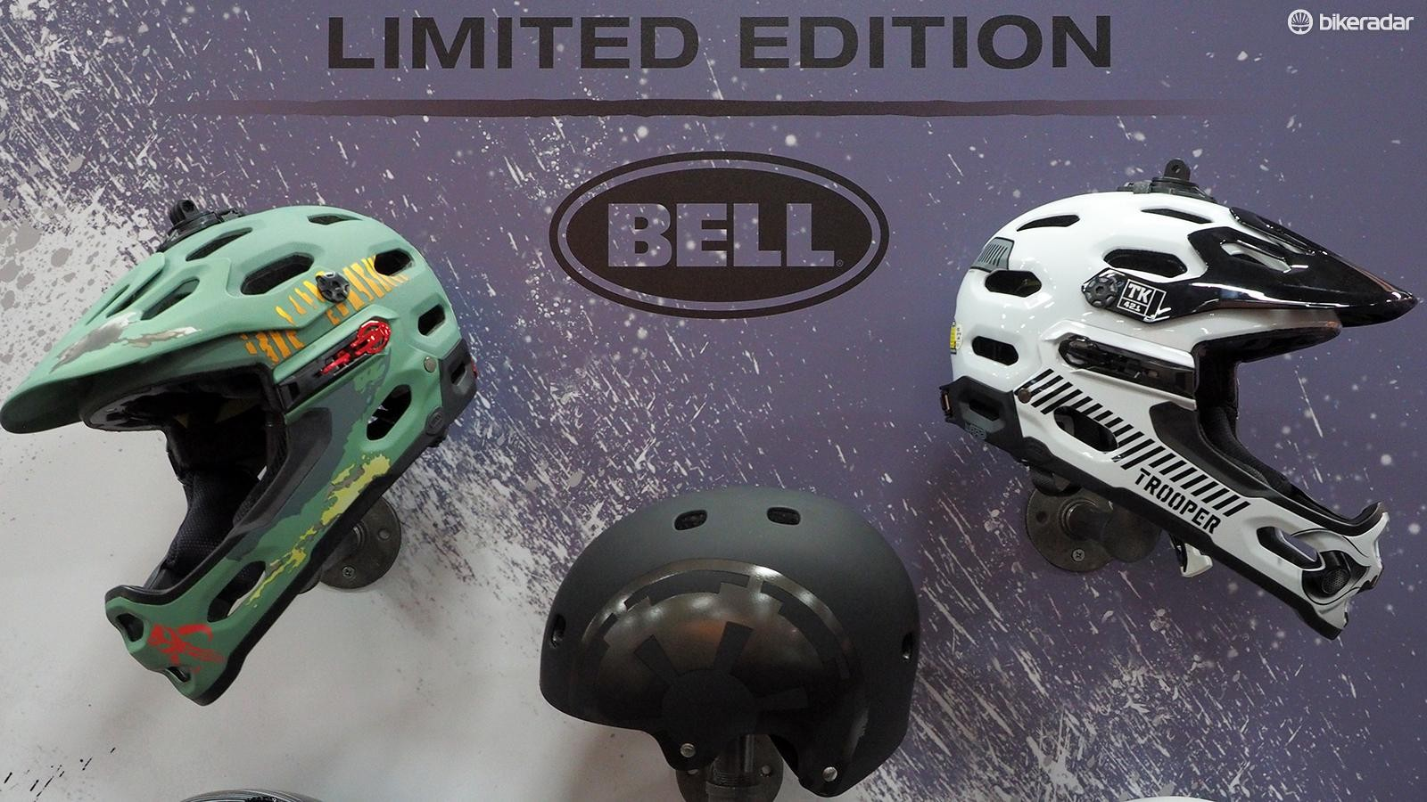 Bell has partnered with Star Wars for a collection of themed helmet designs