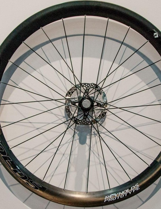 While racers are still waiting on UCi approval for disc brake use, Reynolds has gone ahead and created the 46 Aero DB wheelset