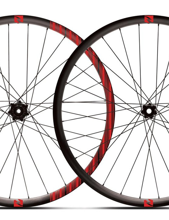 The Black Label Trail 29 (and 27.5) wheelset offers a 25mm internal width rim